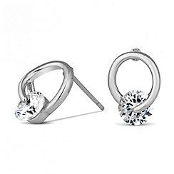 Jon Richard - Cubic zirconia stone set loop stud earring