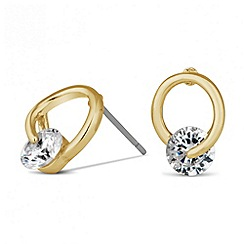 Jon Richard - Cubic zirconia stone gold loop stud earring