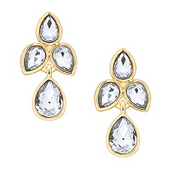 Jon Richard - Polished gold crystal teardrop earring
