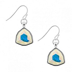 Jon Richard - Aurora borealis triangular crystal drop earring MADE WITH SWAROVSKI ELEMENTS