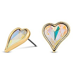 Jon Richard - Online exclusive sweetheart stud earring MADE WITH SWAROVSKI ELEMENTS