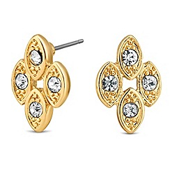 Jon Richard - Crystal encased navette stud earring
