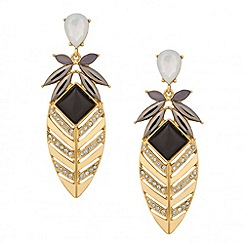 Jon Richard - Statement crystal embellished fan drop earring