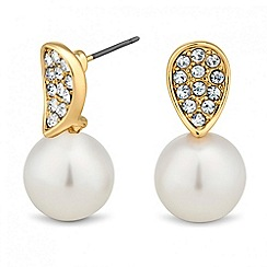 Jon Richard - Pearl and crystal teardrop earring