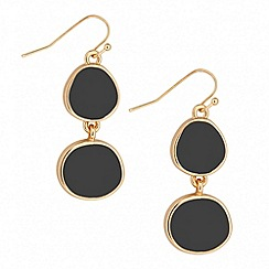 Jon Richard - Grey pebble drop earring