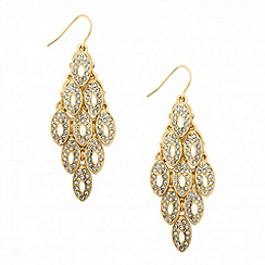 Jon Richard - Crystal encased gold chandelier earring