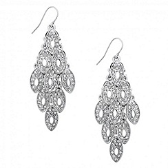 Jon Richard - Crystal encased silver chandelier earring