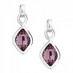 Jon Richard - Antique pink lemon fancy drop earring MADE WITH SWAROVSKI ELEMENTS