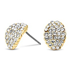 Jon Richard - Crystal encased half hoop earring MADE WITH SWAROVSKI ELEMENTS