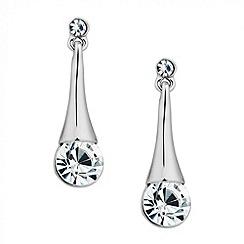 Jon Richard - Silver crystal stick drop earring