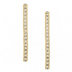 Jon Richard - Diamante crystal singular bead drop earring
