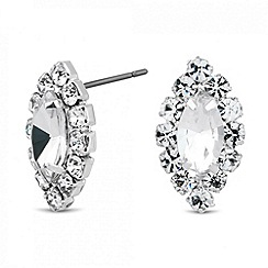 Jon Richard - Diamante surround navette stud earring