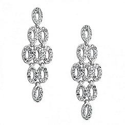 Jon Richard - Crystal encased chandelier drop earring
