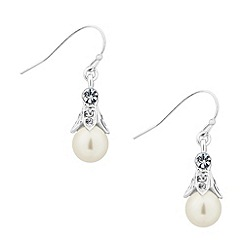 Jon Richard - Crystal capped pearl drop earring
