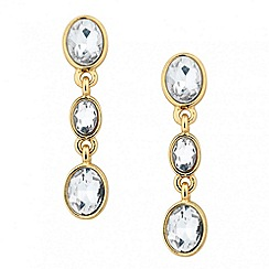 Jon Richard - Triple oval stone drop earring