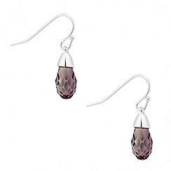 Jon Richard - Antique pink crystal briolette drop earring MADE WITH SWAROVSKI ELEMENTS