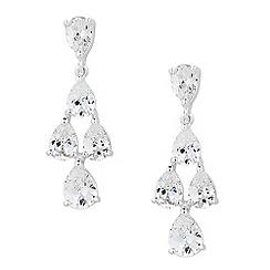 Jon Richard - Cubic zirconia chandelier peardrop earring