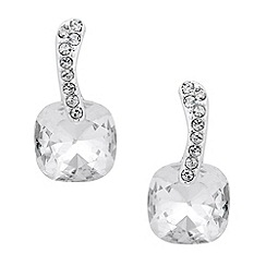 Jon Richard - Crystal bar and clear square drop earring