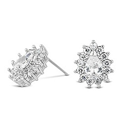 Jon Richard - Cubic zirconia surround teardrop stud earring