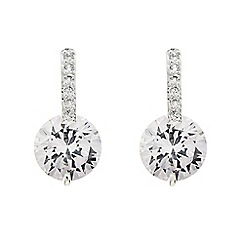 Jon Richard - Crystal stick and cubic zirconia drop earring