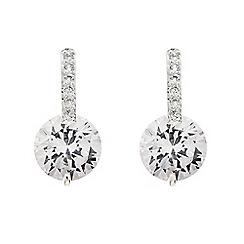 Jon Richard - Crystal stick and cubic zirconia drop earring