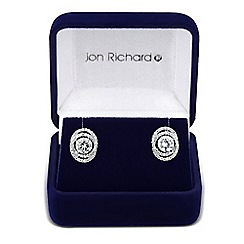 Jon Richard - Cubic zirconia swirl stud earring