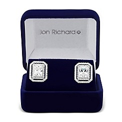 Jon Richard - Cubic zirconia double pave surround earring