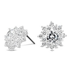Jon Richard - Cubic zirconia cluster flower earring