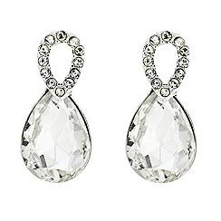 Jon Richard - Oval and crystal peardrop surround earring