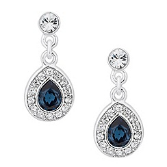 Jon Richard - Blue crystal peardrop earring MADE WITH SWAROVSKI ELEMENTS