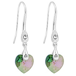 Jon Richard - Paradise shine crystal heart drop earring MADE WITH SWAROVSKI ELEMENTS