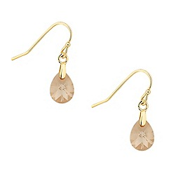 Jon Richard - Golden shadow crystal peardrop earring MADE WITH SWAROVSKI ELEMENTS