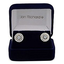 Jon Richard - Cubic zirconia two tone round stud earring