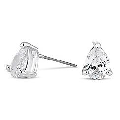 Jon Richard - Cubic zirconia peardrop stud earring