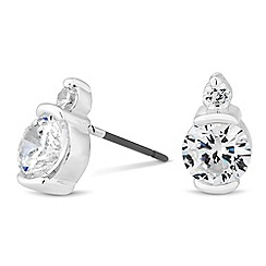 Jon Richard - Round cubic zirconia set stud earring