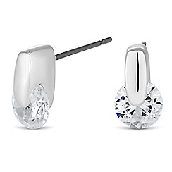 Jon Richard - Mini round cubic zirconia stud earring