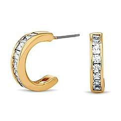 Jon Richard - Cubic zirconia encased gold hoop earring