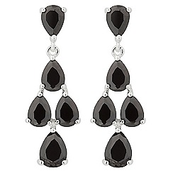 Jon Richard - Jet cubic zirconia mini chandelier earring