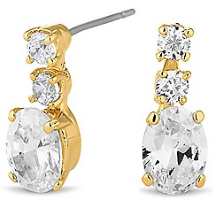 Jon Richard - Round and oval crystal mini drop earring