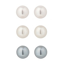 Jon Richard - Set of 3 pastel pearl stud earrings
