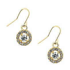 Jon Richard - Clara gold crystal round drop earring