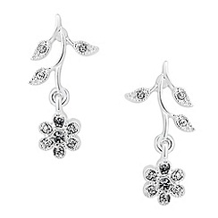 Jon Richard - Vine crystal drop earrings