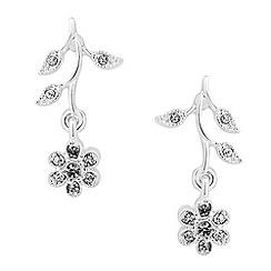 Jon Richard - Vine crystal drop earrings