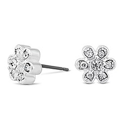 Jon Richard - Vine crystal stud earring