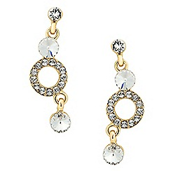 Jon Richard - Round crystal and ring drop earring MADE WITH SWAROVSKI ELEMENTS