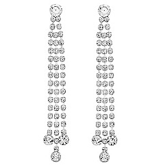 Jon Richard - Diamante crystal triple drop earring