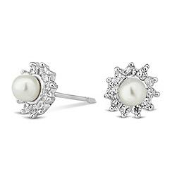 Jon Richard - Mini pearl and crystal cluster stud earring