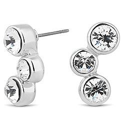 Jon Richard - Triple crystal wave stud earring