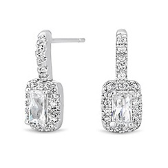 Jon Richard - Cubic zirconia cluster surround drop earring