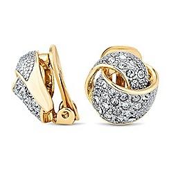 Jon Richard - Crystal embellished knot clip on earring